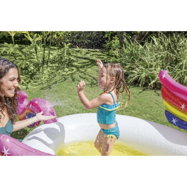 """Piscinette avec jet d'eau """"Licorne"""" Intex - 2 ans +"""