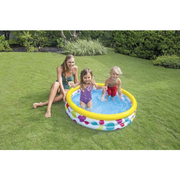 Pataugeoire gonflable Intex Cool Dots - 1,47m