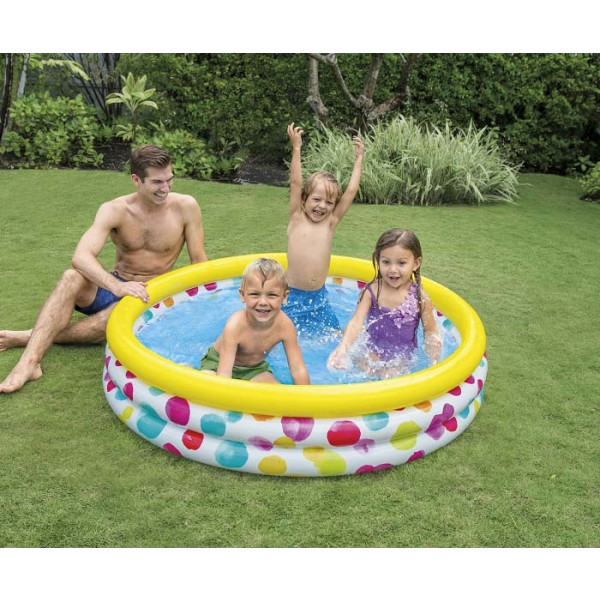 Pataugeoire gonflable Intex Cool Dots - 1,68m
