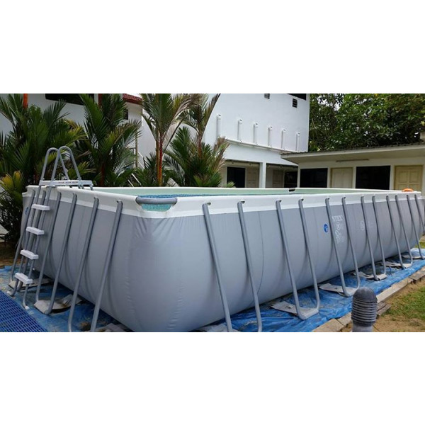 Piscine tubulaire intex ultra silver x x m - Piscine rectangulaire hors sol intex ...