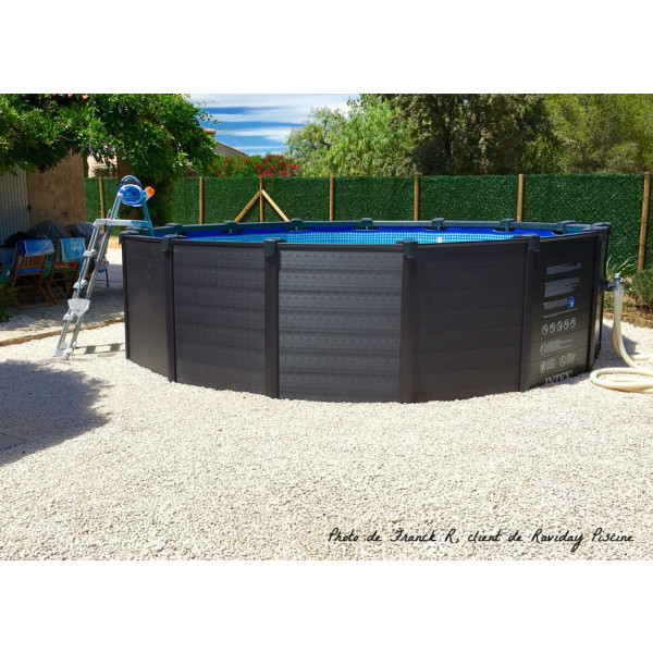 Piscine Tubulaire Ronde Intex Graphite 4 78 X 1 24 M