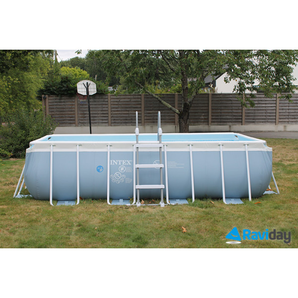 Piscine tubulaire rectangulaire intex prism frame 4m x 2m x 1m for Piscine tubulaire intex rectangulaire