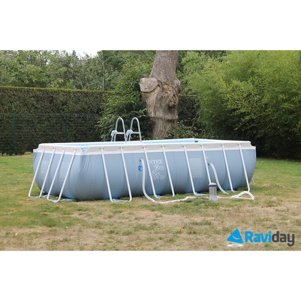 piscine tubulaire rectangulaire intex prism frame 4m x 2m x 1m. Black Bedroom Furniture Sets. Home Design Ideas