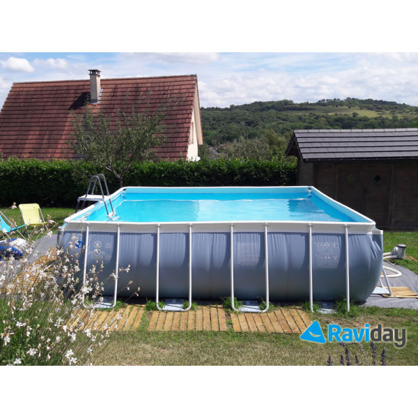 Piscine tubulaire carrée Intex Prism Frame 4,88 x 4,88