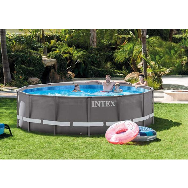 Piscine intex ultra frame 4 27 x m piscine tubulaire for Piscine tubulaire 1 22