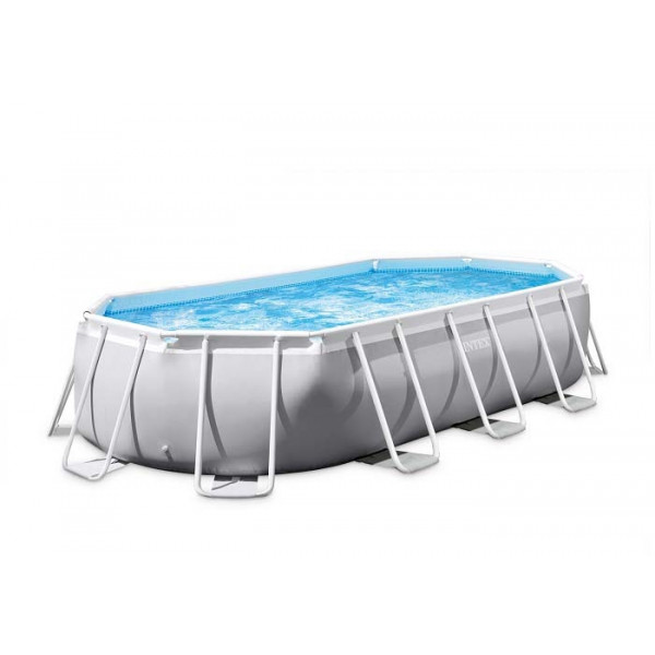 Piscine tubulaire Intex Prism Frame Ovale 4 x 2 x 1m