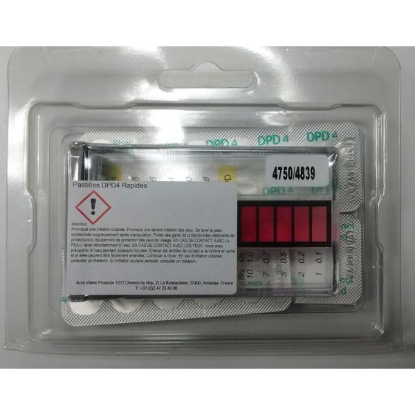 pastilles test de l'eau Oxygène actif / Brome / pH HTH