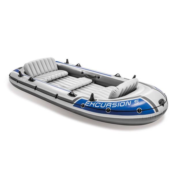 set bateau gonflable 5 places intex excursion 5