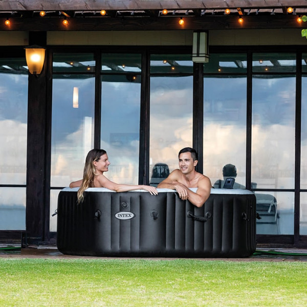 Ambiance Spa gonflable Intex PureSpa Carbone 4 places Raviday