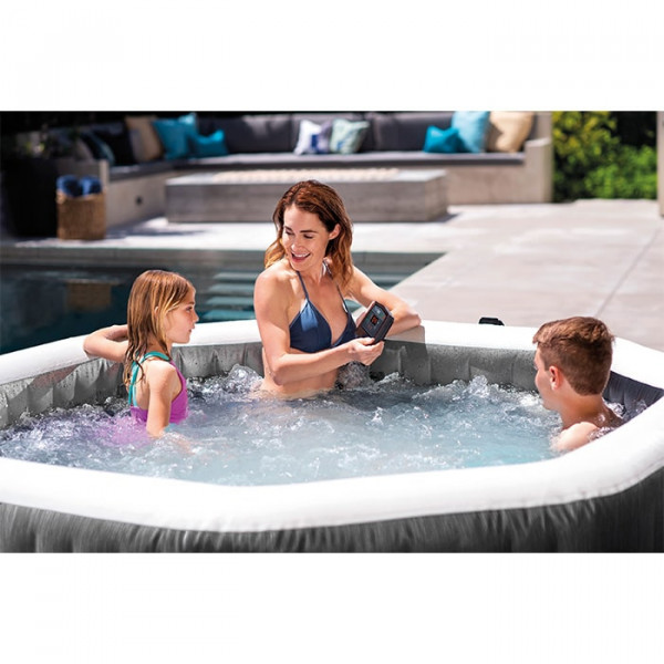 Raviday présente Spa gonflable Intex PureSpa Carbone 4 places