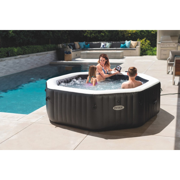 Ambiance Spa gonflable Intex PureSpa Carbone 6 places