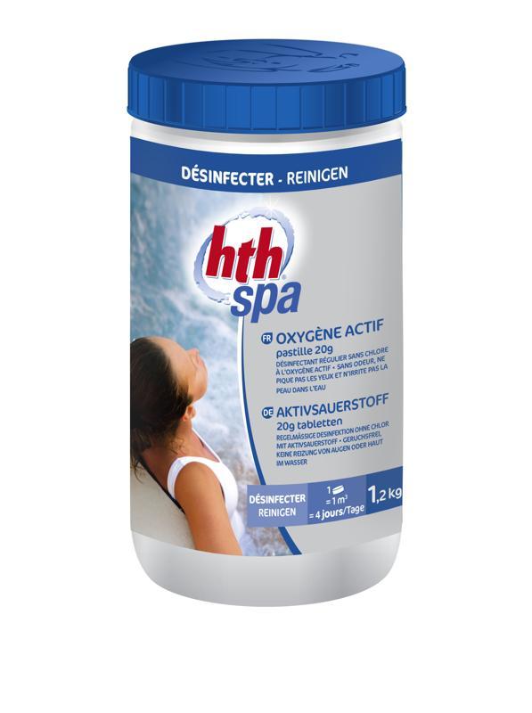 Hth spa 1 2 kg oxyg ne actif pastilles 20g raviday piscine for Oxygene actif piscine