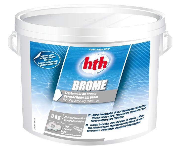 Hth brome pastilles 20g seau de 5kg traitement piscine for Pastille chlore piscine