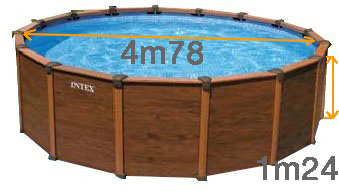 Piscine intex sequoia spirit 4 78m aspect bois - Piscine intex aspect bois ...