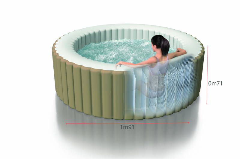Spa gonflable intex pure spa bulles 4 places 399 raviday - Spa gonflable consommation electrique ...