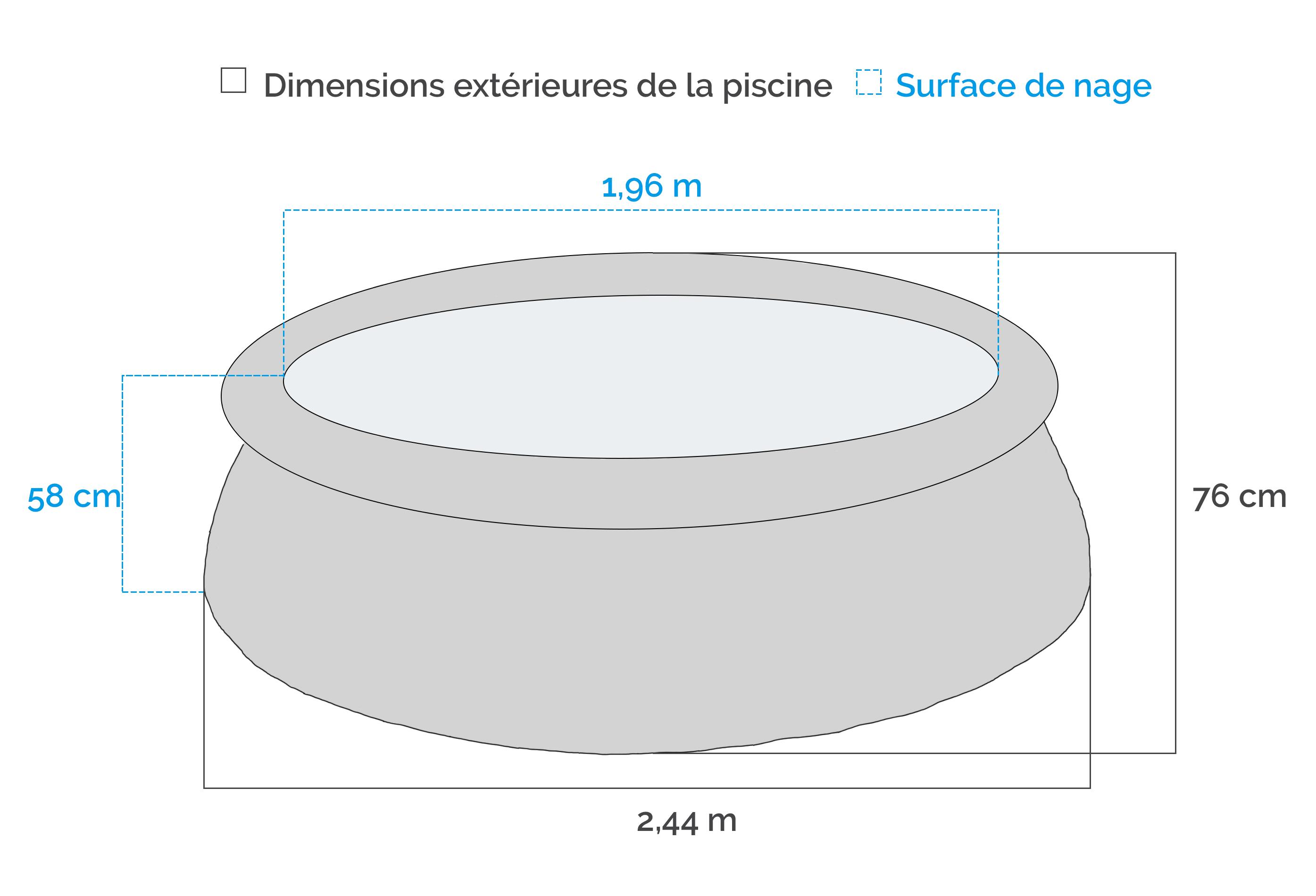 Piscine autoport e easy set intex 2 44 x 0 76 m - Piscine autoportante intex easy set ...