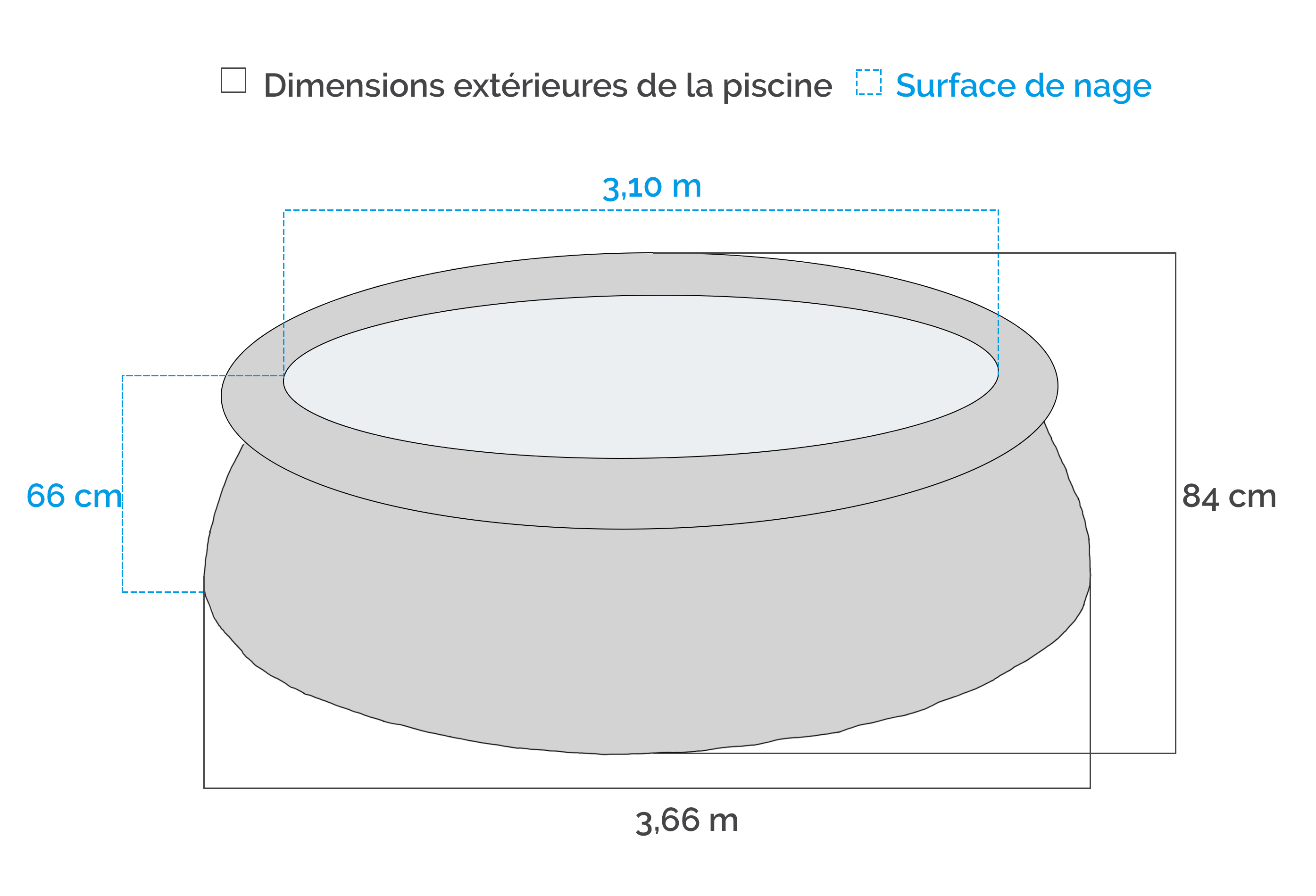 Piscine gonflable intex easy set x m epurateur for Piscine autoportante easy set