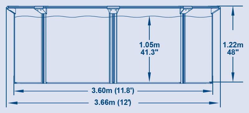 Piscine en acier bestway hydrium neptune x m for Piscine 366 x 122