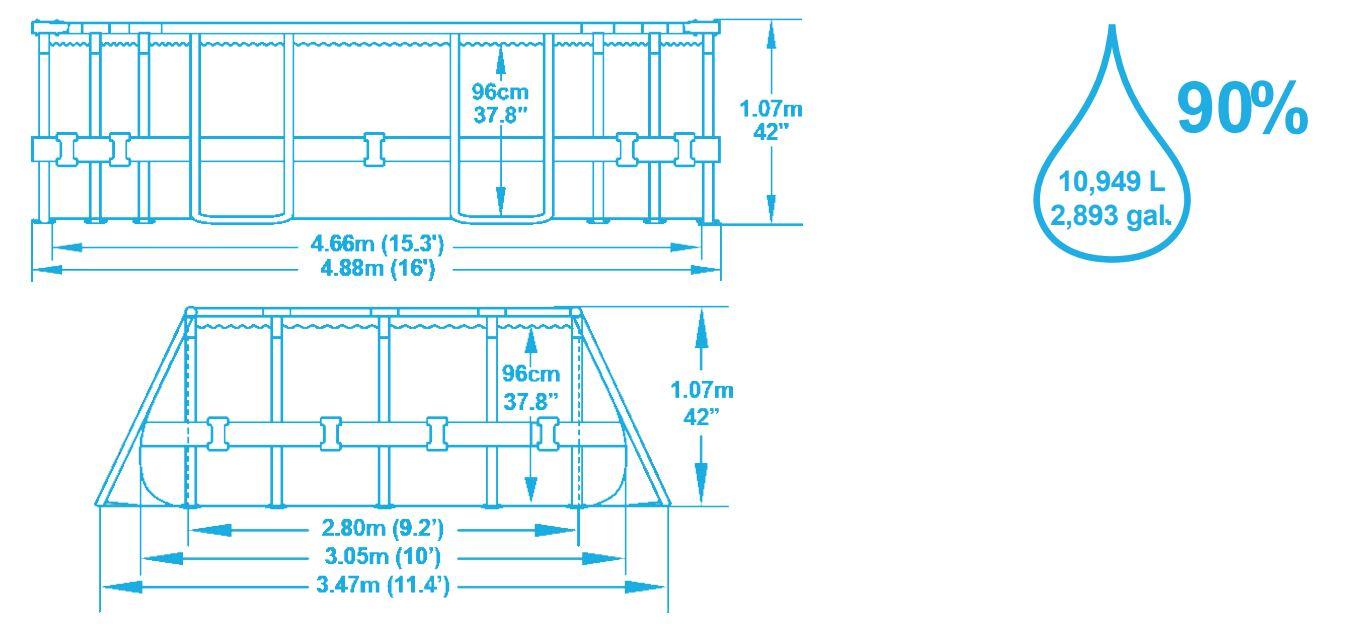 Power STeel Frame piscine bestway