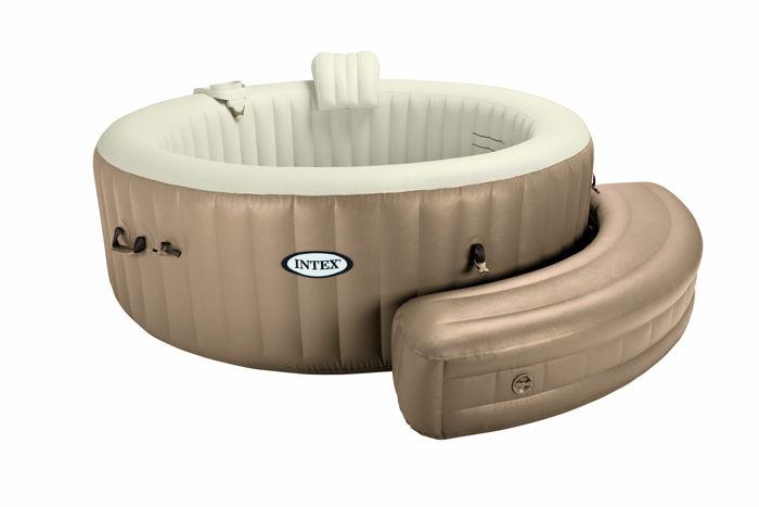 banquette gonflable pour spa intex bulles rond. Black Bedroom Furniture Sets. Home Design Ideas