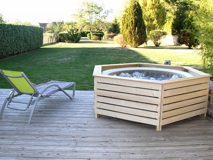 habillage terrasse spa bois