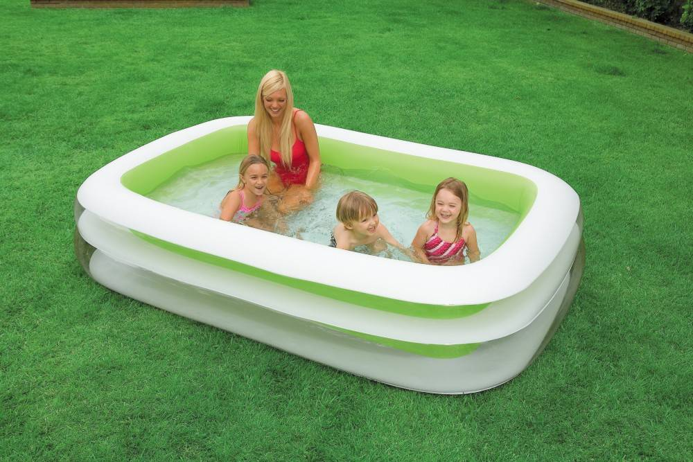 Piscine gonflable rectangulaire family intex for Piscine portable intex