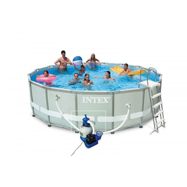 Liner tubulaire pour piscine ultra frame 4 88 x 1 22 m for Epaisseur liner piscine intex