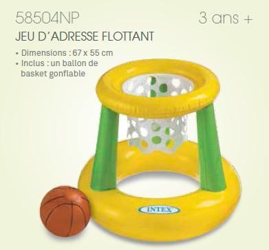 Jeu de basket flottant piscine panier de basket for Panier de basket pour piscine