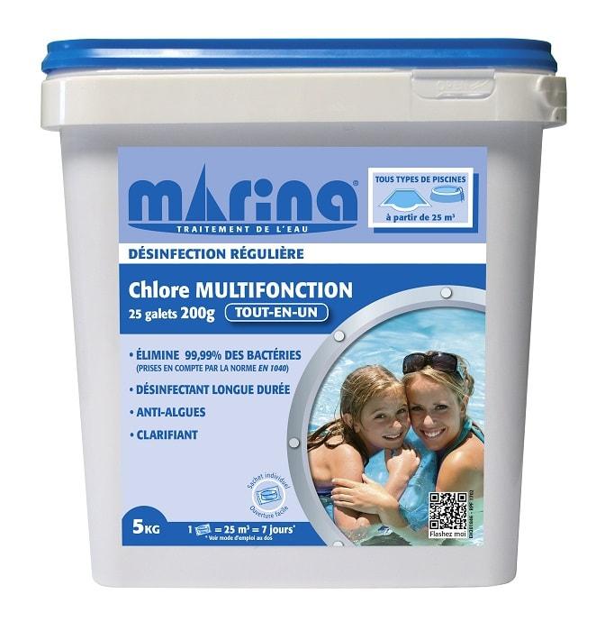 chlore multifonction Marina 20g