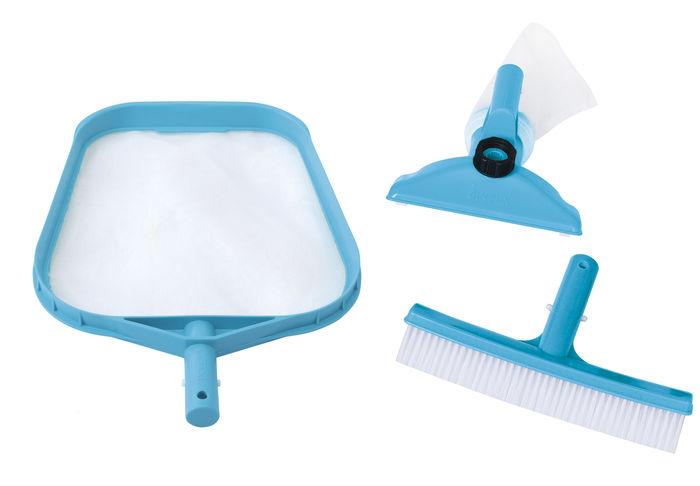 Kit d 39 accessoires de base intex pour entretien de piscine for Entretien de piscine