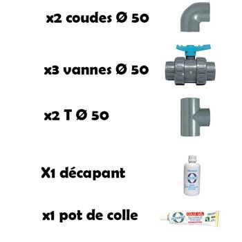 Kit by Pass pour pompe à chaleur Poolstar