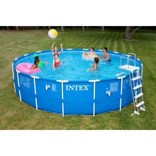 Kit piscine tubulaire intex metalframe pool x m for Piscine hors sol 5 49x1 22 m easy set intex