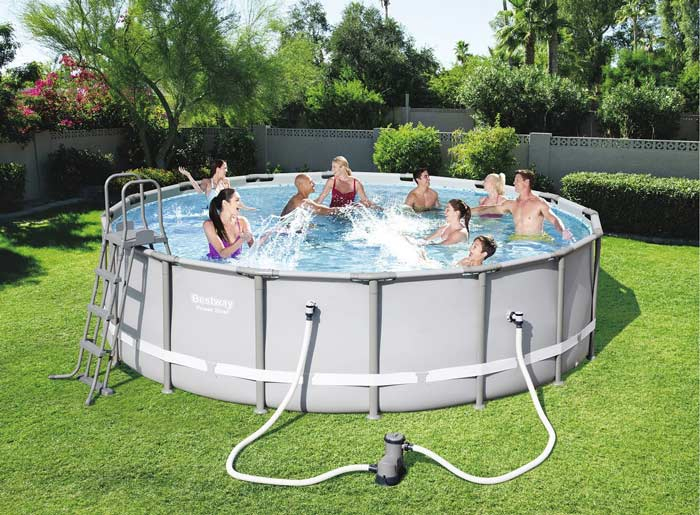 Kit piscine ronde tubulaire Bestway Power Steel 488 cm diam