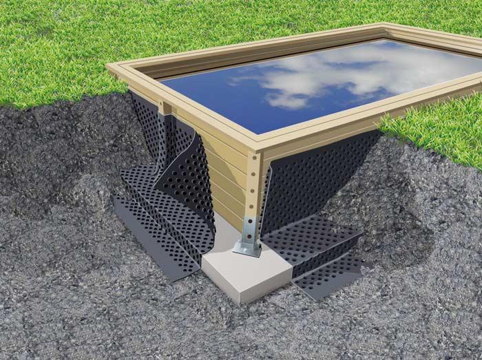nappe drainante en polyéthylène Ubbink 1,5 x 20 mètres piscine bois