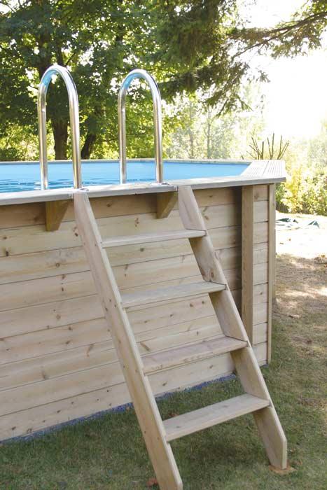 Piscine en bois octogonale Ubbink Sunwater 300x490