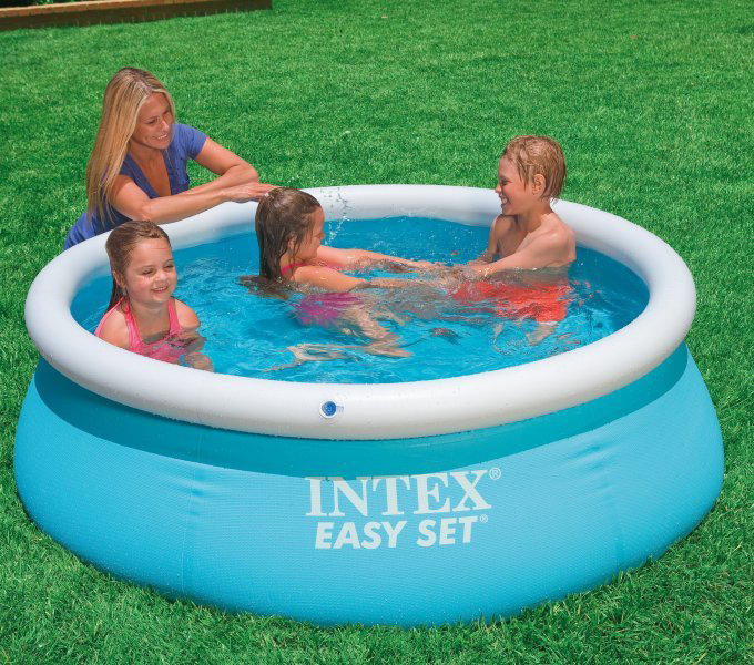 piscine gonflable intex easy set x pour enfant. Black Bedroom Furniture Sets. Home Design Ideas