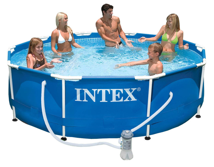 Achat piscine tubulaire intex metalframe x m for Piscine 3 boudins intex