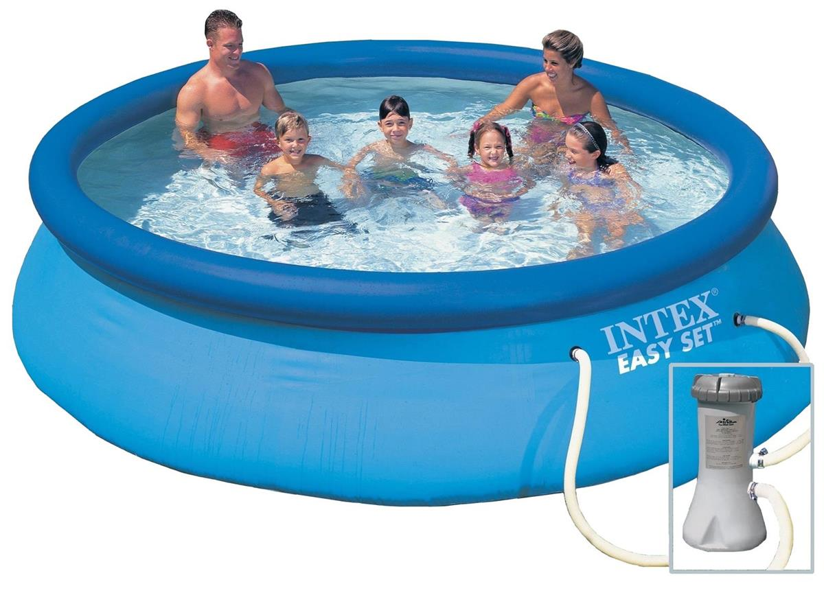 Piscine easy set x m epurateur intex for Piscine 3 boudins intex