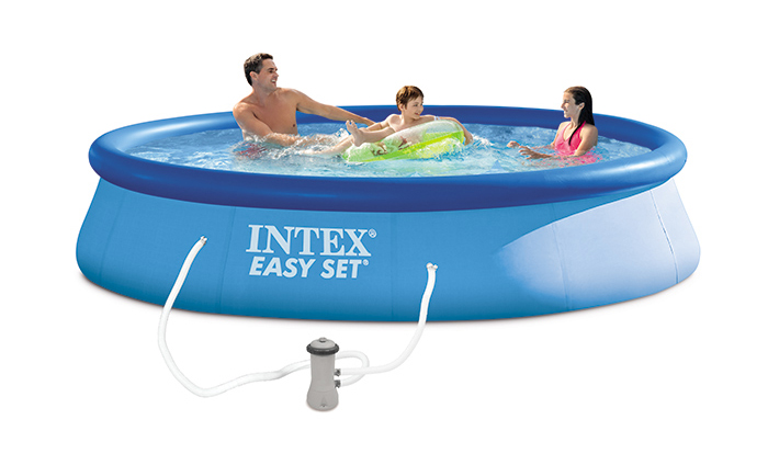 Piscine autoport e easy set intex x cm for Easy piscine