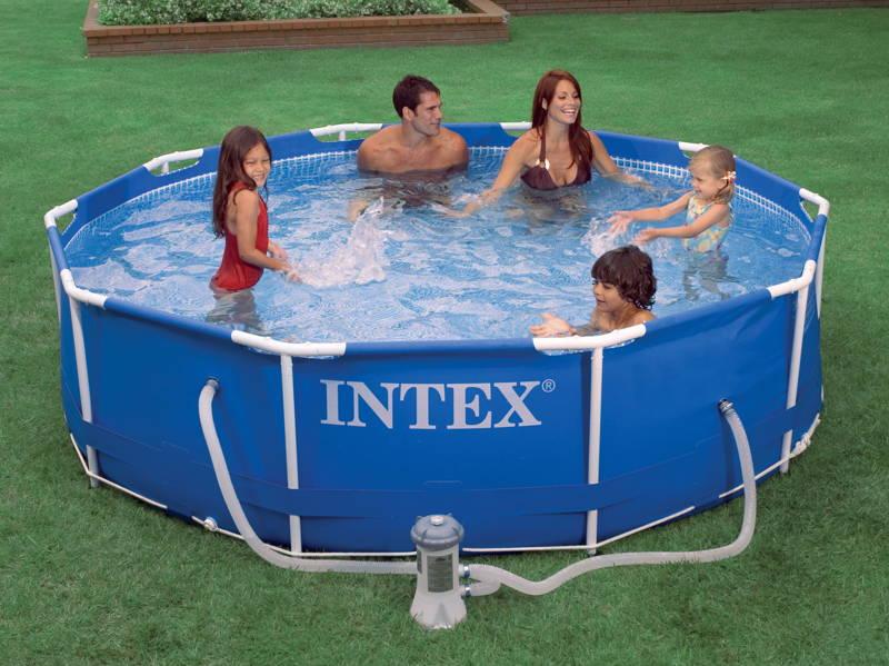 achat piscine tubulaire intex metalframe x m epurateur. Black Bedroom Furniture Sets. Home Design Ideas