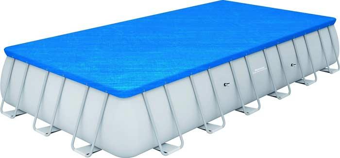 Kit piscine rectangulaire tubulaire Bestway Power Steel