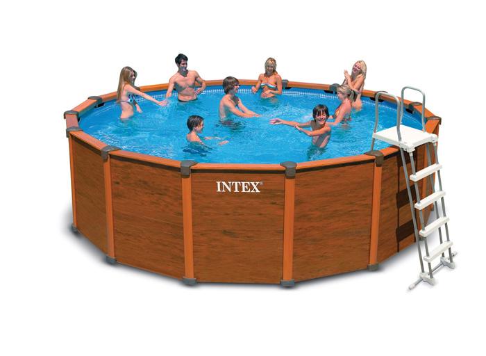 piscine intex sequoia spirit 4 78m aspect bois achat sur raviday piscine. Black Bedroom Furniture Sets. Home Design Ideas