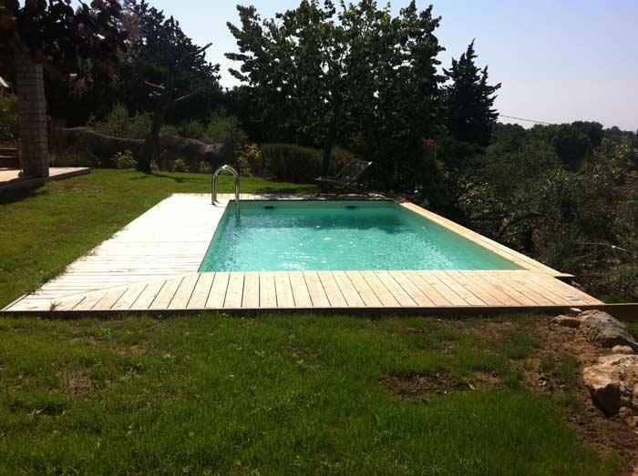 Piscine en bois octogonale Ubbink Sunwater 300x555