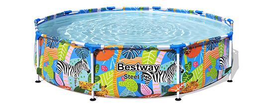 Bestway Steel Pro Ronde Décor Animaux