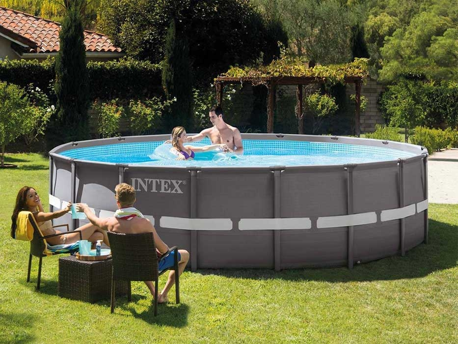 Raviday présente la Piscine tubulaire Intex Ultra XTR Frame 7.32 x 1.32 m