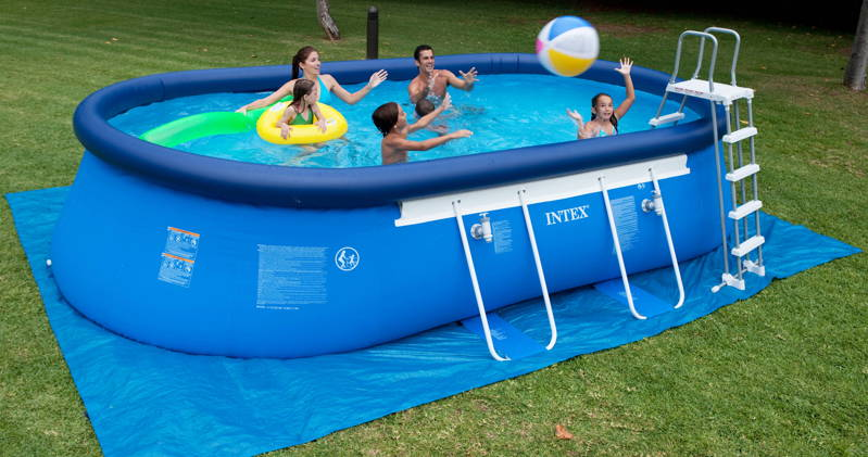 Piscine intex ellipse x x m achat sur for Piscines gonflables