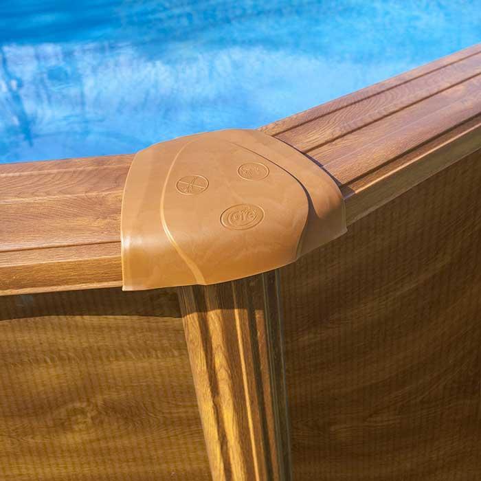 Piscine ovale acier Gré Sicilia imitation bois 500 x 300 x h 120 cm
