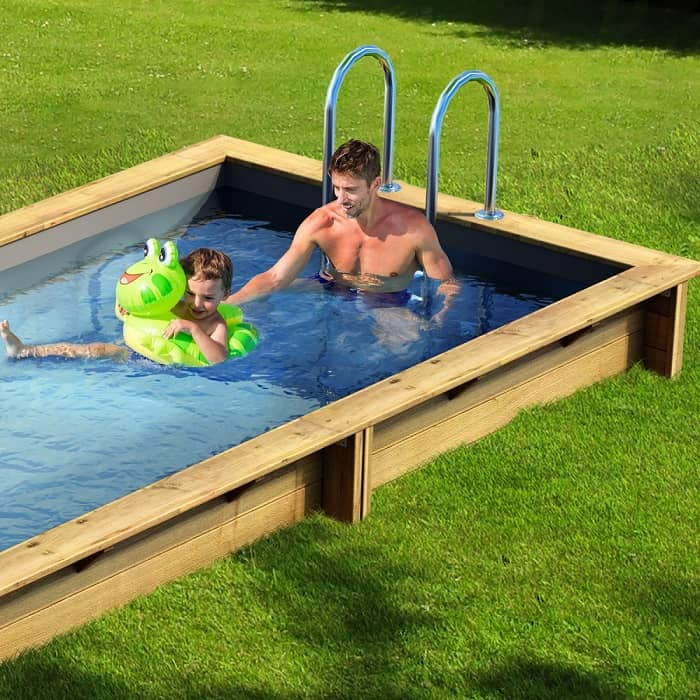 Piscine pool'n box procopi enterrée ambiance