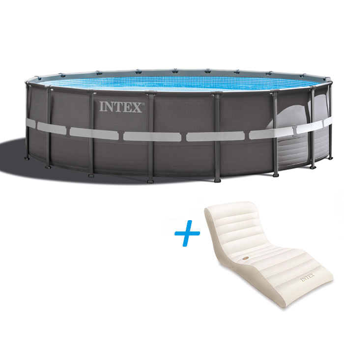 Piscine intex ultra frame 5 49 x 1 32 ref 28332 raviday for Simulateur piscine