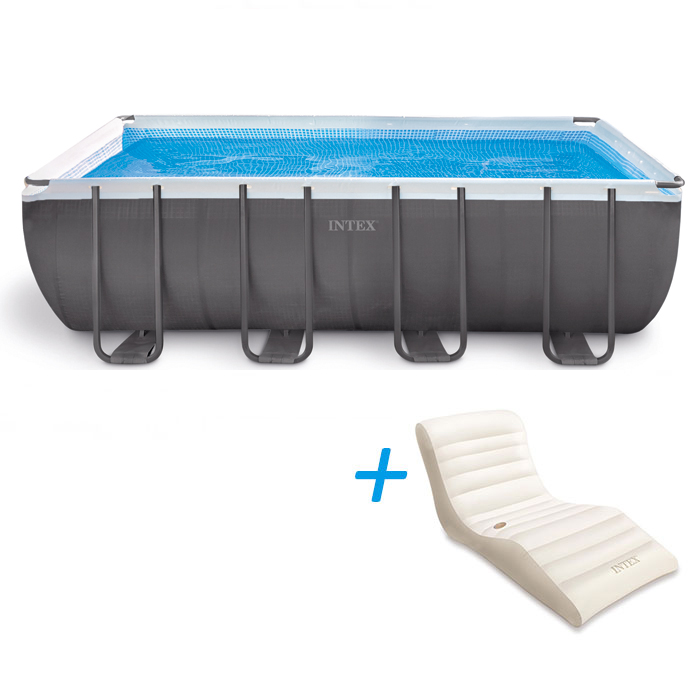 Piscine tubulaire intex ultra silver x x m for Piscines autoportees